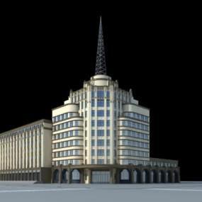 欧式办公楼3D模型【ID:133233978】