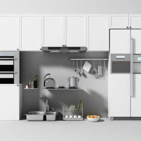 现代厨房3D模型【ID:248203833】