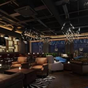 工业风酒吧3D模型【ID:834716098】