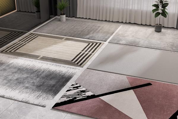 现代地毯3D模型【ID:349035251】