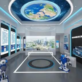 现代科技产业园展厅3D模型【ID:949191709】