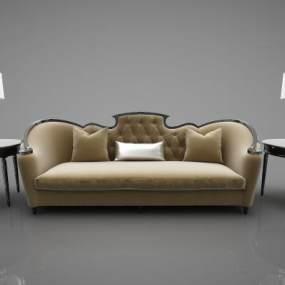 现代风格沙发3D模型【ID:647376760】