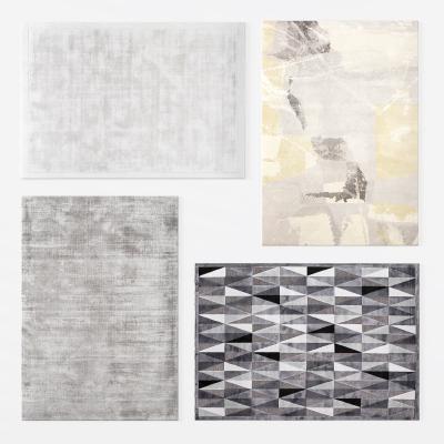 现代方形地毯3D模型【ID:345535247】