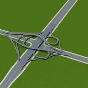 现代立交桥3D模型【ID:253033049】