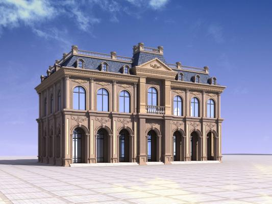 歐式別墅會所3D模型【ID:140830382】