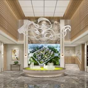 新中式售楼部3D模型【ID:945939622】