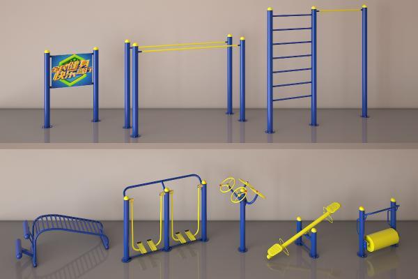 健身器材3D模型【ID:336157862】