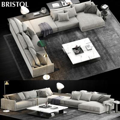 现代沙发PoliformBristolSofa国外3D模型【ID:632787740】