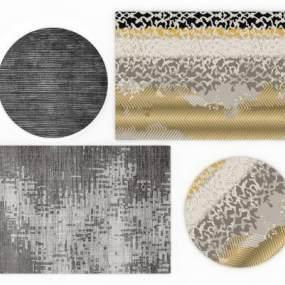 现代地毯组合3D模型【ID:333247226】