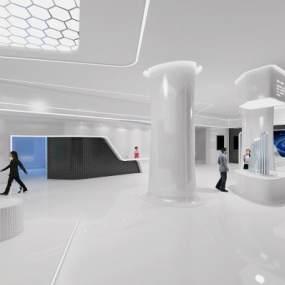 现代展厅3D模型【ID:933735723】