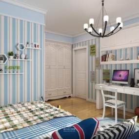 现代儿童房3D模型【ID:532950758】