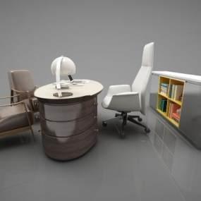 现代风格办公桌3D模型【ID:953473128】