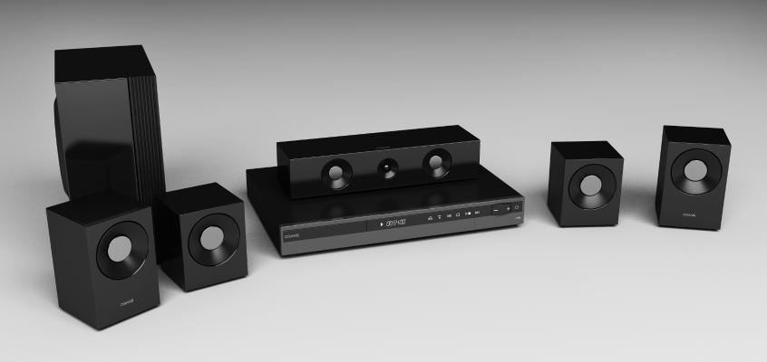 現代家庭音響組合3D模型【ID:234844794】