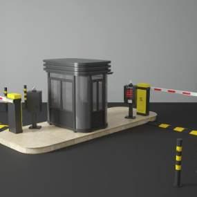 小区门禁亭3D模型【ID:236158425】