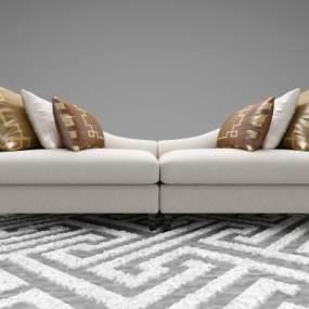 新中式风格沙发3D模型【ID:645826688】