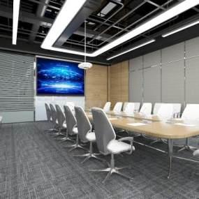 现代会议室3D模型【ID:944122125】