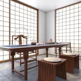 茶室3D模型【ID:630432182】