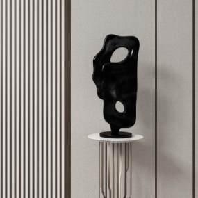 新中式雕塑3D模型【ID:349338185】