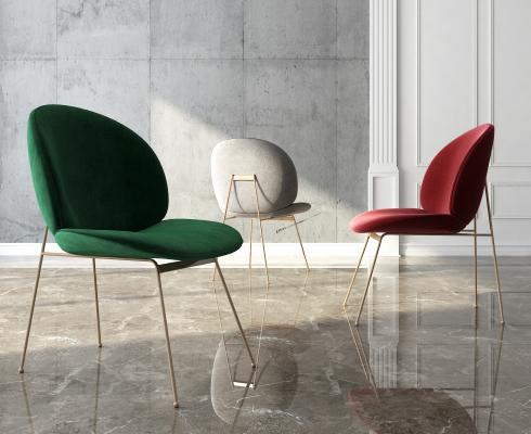 现代轻奢单椅3D模型【ID:741707102】