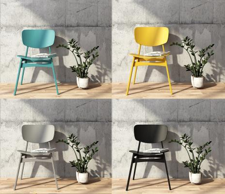 北欧风格单椅3D模型【ID:741707109】