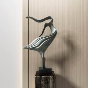 現代抽象雕塑3D模型【ID:353186172】