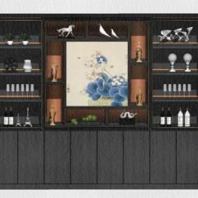 新中式风格餐边柜 装饰柜【ID:248847318】