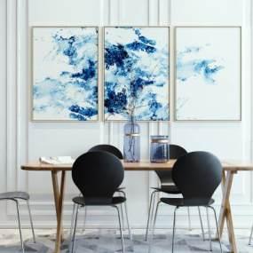 北欧餐桌椅低�一喝装饰画盆栽组合3D快三追号倍投计划表【ID:734223156】