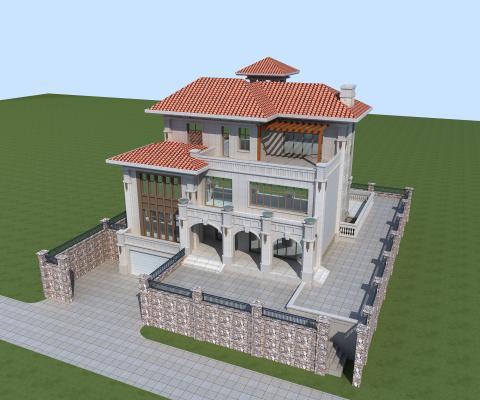 别墅3D模型【ID:141753343】