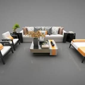 新中式风格家具3D模型【ID:643768775】