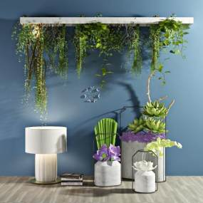 现代植物盆栽3D模型【ID:233030816】