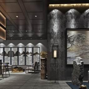 现代酒店会客厅3D模型【ID:732023508】