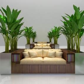 现代公共座椅3D模型【ID:632736757】
