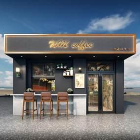 工业风咖啡店3D模型【ID:654019206】