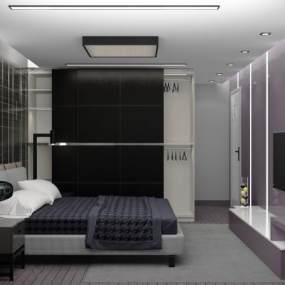 现代简约风格卧室3D模型【ID:554012225】