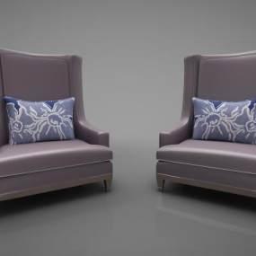 现代风格沙发3D模型【ID:647377715】