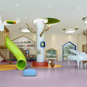 现代幼儿园教室3D模型【ID:931981686】