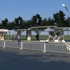 公交站台 3D模型【ID:940832997】