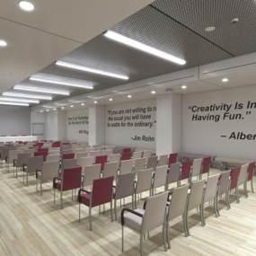 现代会议室3D模型【ID:951040189】