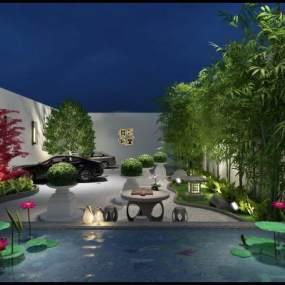 新中式庭院3D模型【ID:132748413】