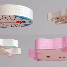 現代兒童吸頂燈3D模型【ID:847820036】