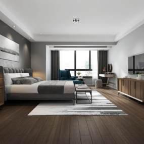 现代卧室3D模型【ID:530431269】