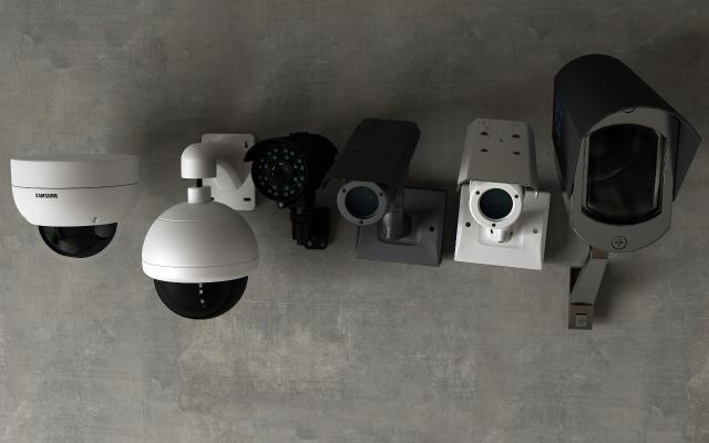 現代攝像機監控3D模型【ID:233578755】