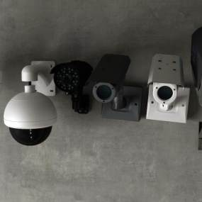 现代摄像机监控3D模型【ID:233578755】