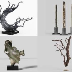 現代雕塑擺件3D模型【ID:246937531】