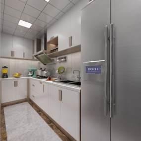 现代厨房3D模型【ID:531605304】