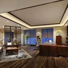 新中式办公室3D模型【ID:931640014】