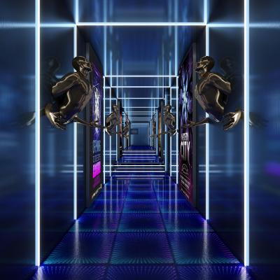 现代科技酒吧KTV过道3D模型【ID:846103144】