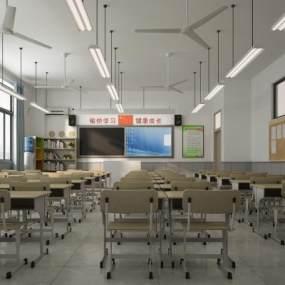 现代学校3D模型【ID:948636606】