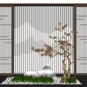 新中式景观小品3D模型【ID:149372434】