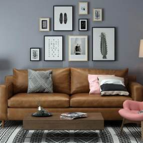 工业风双人沙发3D模型【ID:630675528】